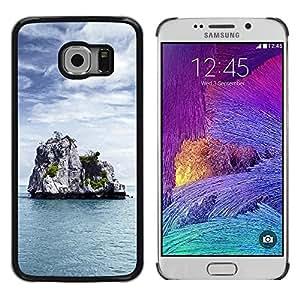 Caucho caso de Shell duro de la cubierta de accesorios de protección BY RAYDREAMMM - Samsung Galaxy S6 EDGE - Nature Lonely Castle Rock