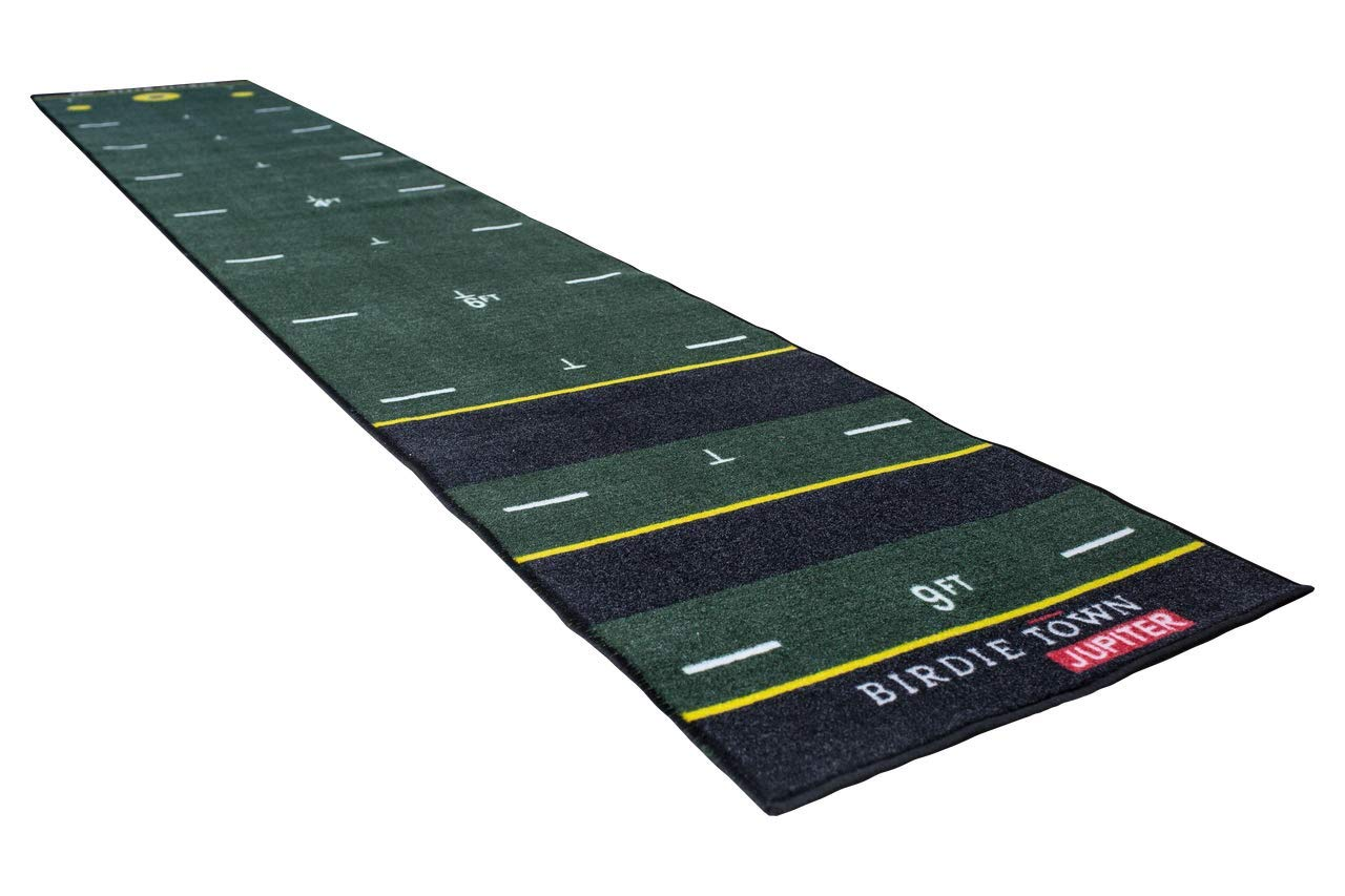 Birdie Maker 10 Foot Putting Mat - Golf Training Putting Aid - Practice Putting Green Designed by a PGA Professional by BIRDIE TOWN JUPITER