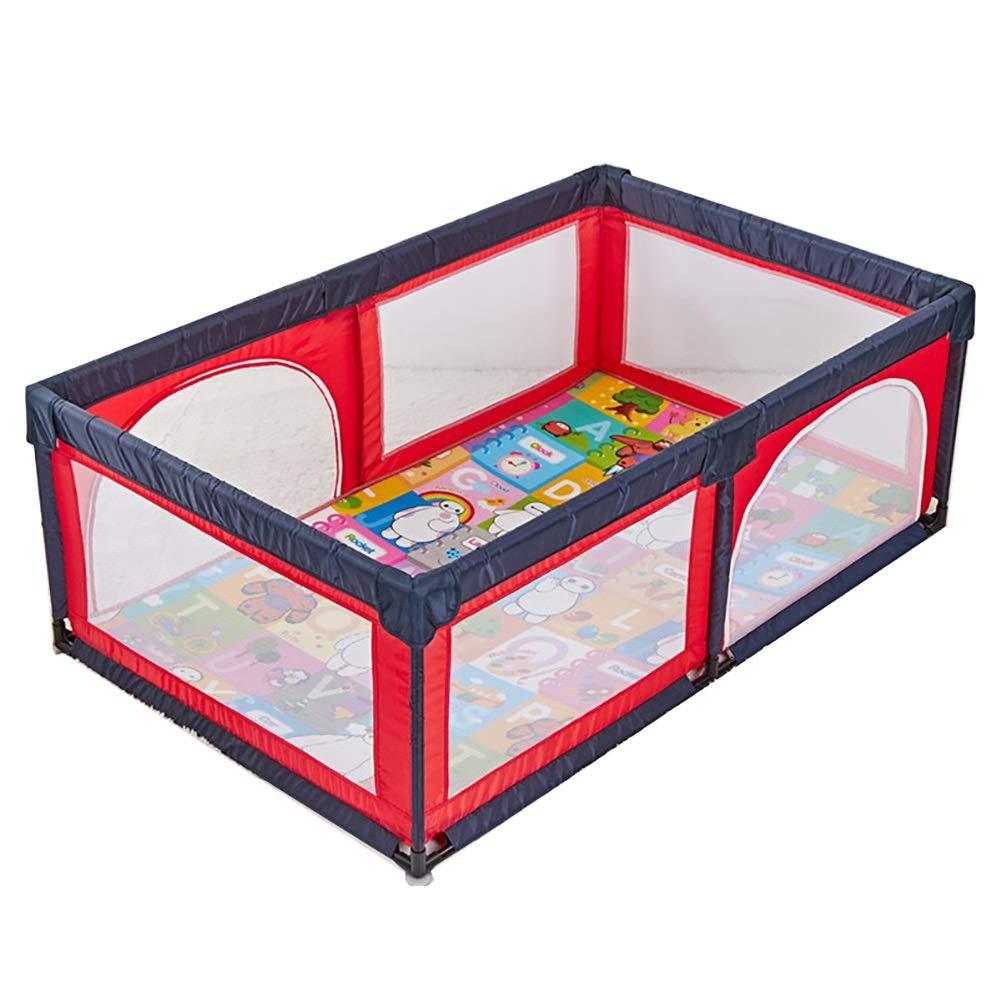 【NEW限定品】 ベビーサークル, 赤ちゃんの遊び場マットレスの安全な再生ヤードの赤ちゃんの遊び場携帯用のプレイペンター屋内の子供のゲームのフェンス、赤   B07JVWSM1C, 福島町:437d2d67 --- a0267596.xsph.ru