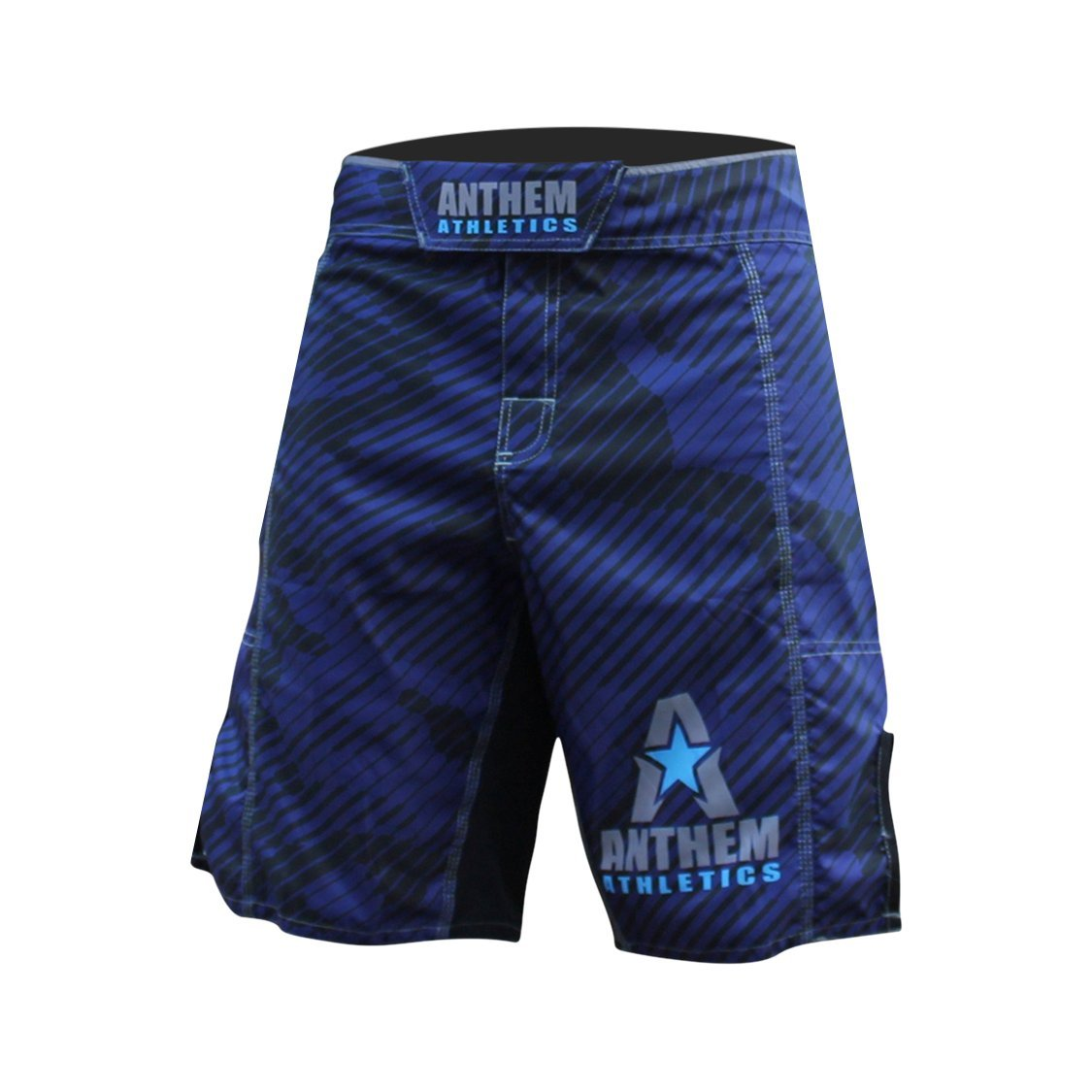 Anthem Athletics Resilience Fight Shorts - Navy Line Camo - 36''