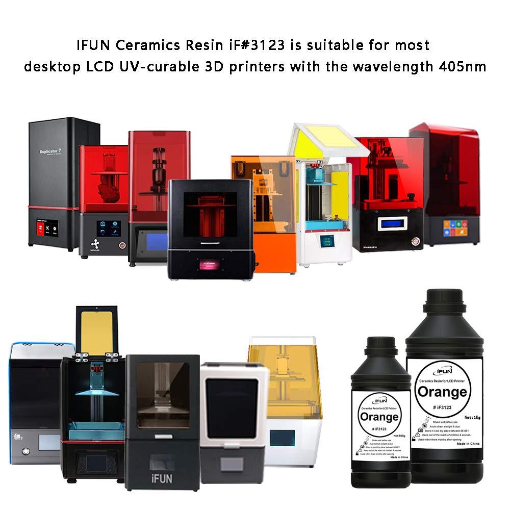 IFUN - Resina de cerámica para impresora LCD 3D, cera roja, 405 nm ...