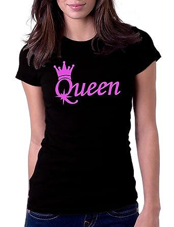 f5ccf6c4ac Amazon.com: Women's Queen Tee T-Shirt: Clothing