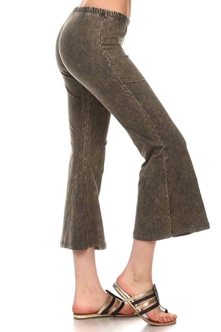 Zoozie LA Women\'s Culottes - Made in The USA Bell Bottoms Cropped Pants