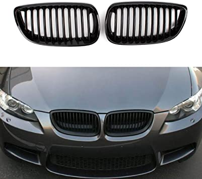 Matte Black Front Kidney Grille for BMW E92 E93 2door Coupe Convertible M3 CAO