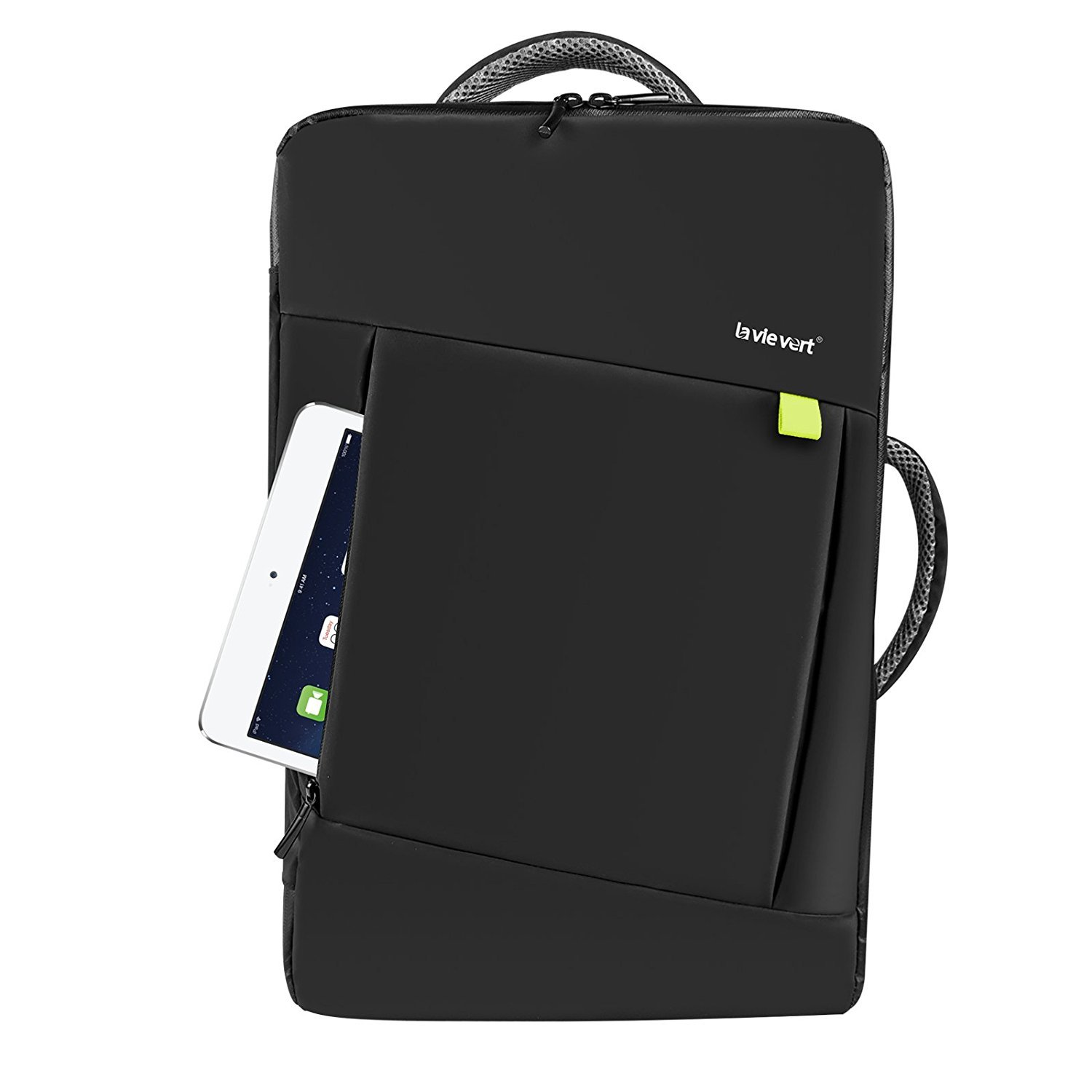 ... Backpack Laptop Convertible Briefcase Tote Bag Business Travel Luggage  Carrier School Knapsack For Macbook Notebook Tablet PC Ultrabook Up to 17  Inch d8878b62b0cef