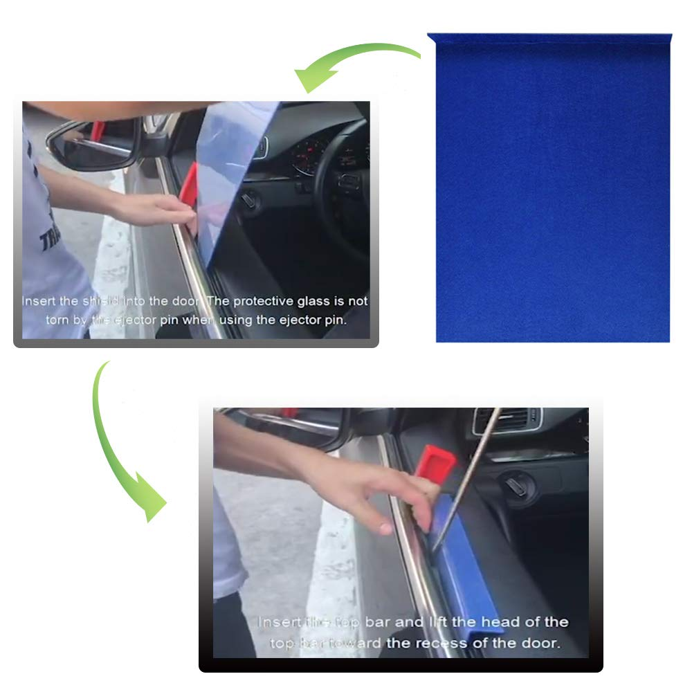 JMgist Dent Repair Tools Kit Window Guard with Felt Red Wedge and S-Hook for Car Paintless Dent Removal by JMgist (Image #2)