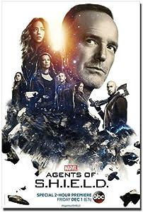 arteWOODS Marvels Agents of Shield Season 5 Wall Sticker Poster Art Light Canvas La decoración del hogar se Puede Colgar directamente50x70cm con Marco