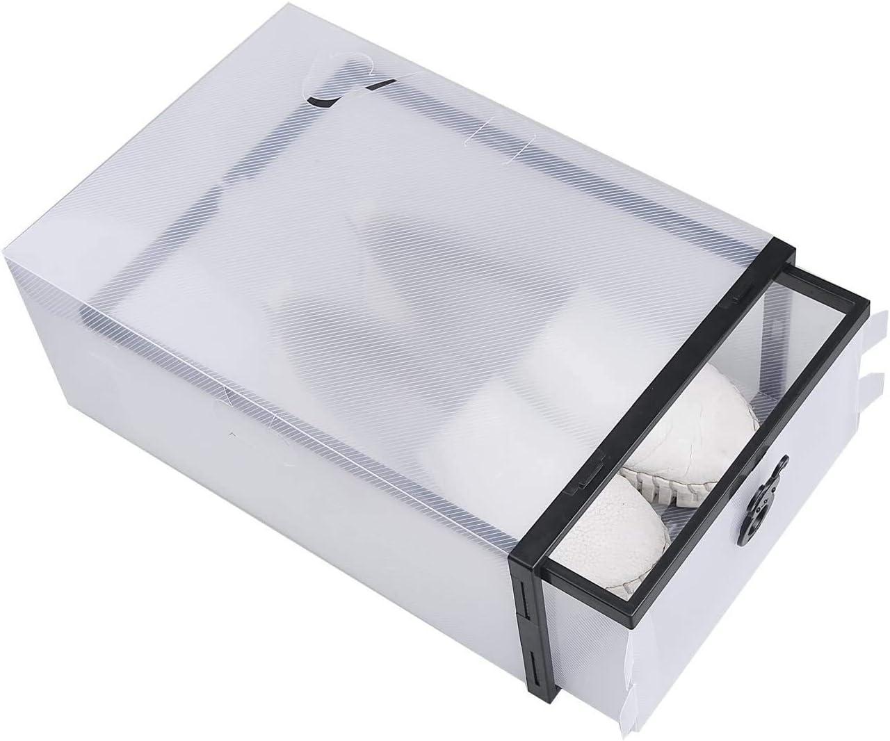 Elise Shoe Box 10PCS impilabile Shoe Storage Box-plastica-Robusta e Durable cassetto Style-Facile da Scarpe Bagagli Yjiangluochen