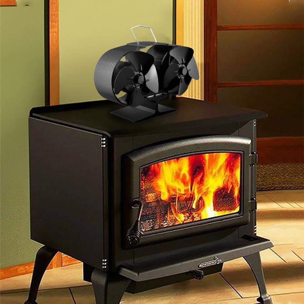 iYoung Fireplace Fans,Power Heat Furnace Fireplace Fan Heating Fan Heat Powered Stove Fan Suitable for Large Room for Fireplace,Wooden Burning