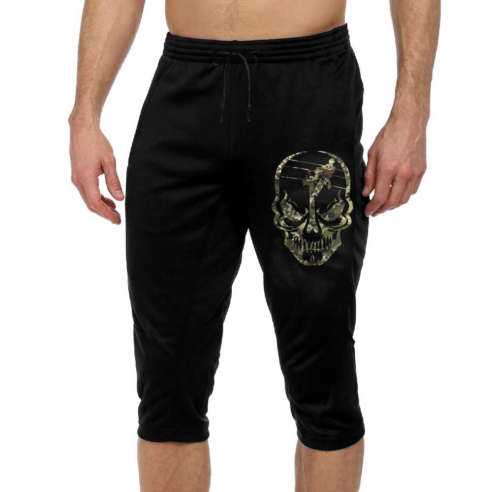 BigManPants Lineman Skull Electrician Camo Exercise Male Vintage Casual Durable French Terry Lounge Pants by BigManPants