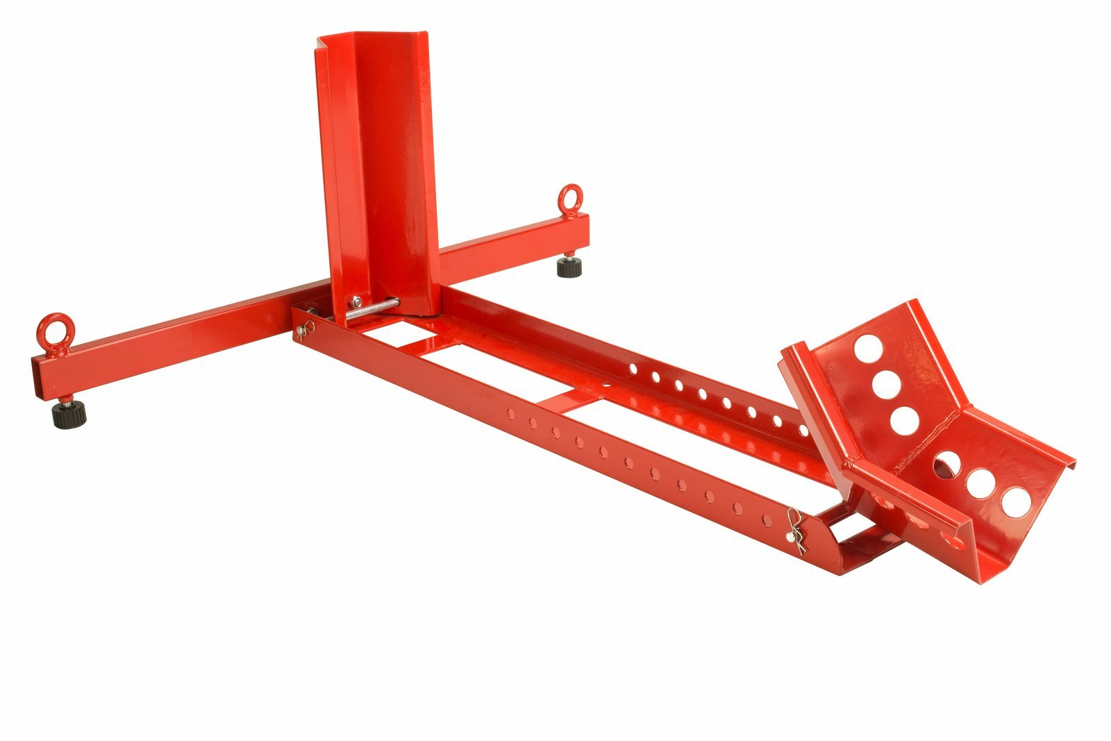 Dragway Tools 1500 LB Adjustable Chock Cradle Stand for 35'' Motorcycle Wheel