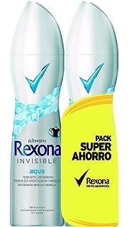 Rexona Desodorante Invisible Aqua Ahorro - Paquete de 2 x 200 ml, Total: 400