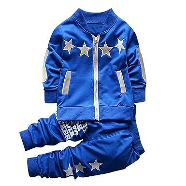 Amlaiworld_ Ropa Bebé niño, Niños Bebé Niña Cremallera Estrellas Pullover Tops Sudaderas + Pantalones Ropa Sets Conjuntos 6 Mes - 3 Años: Amazon.es: Ropa y ...