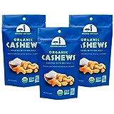 Mavuno Harvest 直接贸易优质全腰果 海盐干烤, 4盎司(112克)3件装