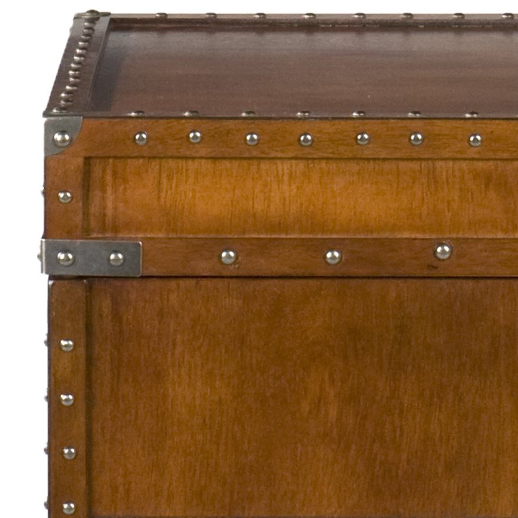 Southern Enterprises Steamer Trunk End Table - Rustic Nailhead Trim - Refinded Industrial Style by Southern Enterprises (Image #8)