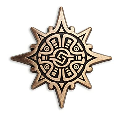 amazon com pinsanity aztec warrior symbol lapel pin jewelry