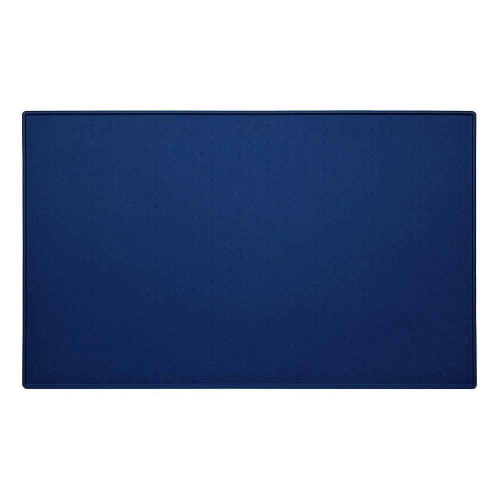 UEETEK Alimentation Mat Pet Dog Cat Food Mat Silicone 60x40 CM (Bleu)