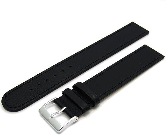 22 mm Uhrenarmband schwarz XL extra lang Alligator-Prägung Uhrband Überlänge