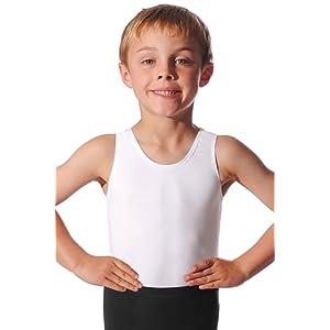 Garçons Ballet justaucorps sans manches Ð Coton/Lycra Ð Noir, Blanc ou bleu marine