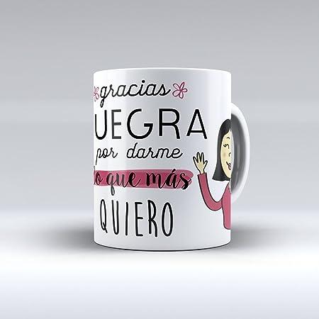 APRIL Taza cerámica Desayuno Regalo Original cumpleaños Suegra Gracias Suegra por darme lo Que más Quiero