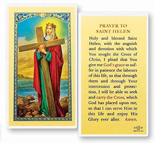 Gifts by Lulee, LLC Saint Helen Saint Helena Patron Saint of Relationships Holy Card