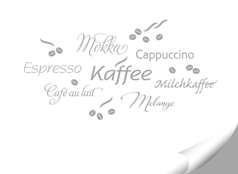 Grandora 1075W Wandtattoo Kaffee Coffee I silbergrau Kreativset I ...