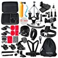 Somate 50-in-1 Outdoor Accessory Kit for Gopro Hero 5/4 Hero 5/4 Session Hero 3+ /3/2/1 Silver Black;Accessories Bundles for Xiaomi Yi;DBPower EX5000; SJCAM SJ4000 SJ5000 SJ6000;Rollei Actioncam from Somate