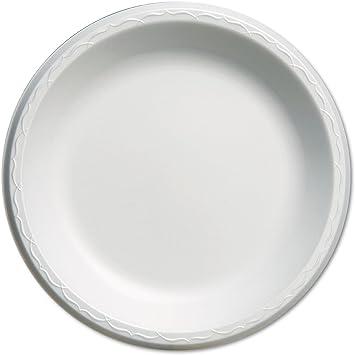 """Genpak LAM10 Elite 10.25/"""" Laminated Foam Plates GNPLAM10 500//Case"""