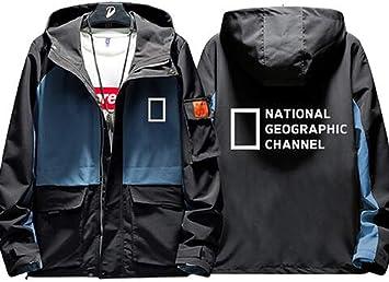 男性用 カジュアルジャケット ナショナルジオグラフィックチャンネルディスカバリーチャンネルコート フード付きウインドブレーカーセーター長袖服 女性の10代のユニセックスのために (シャツなし)