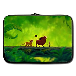 INSTALL AND EASY TO CARRY Wear& Slim &Dapper The Lion King Custom Custom Neoprene Sleeve for Laptop 13Inches(Twin sides)