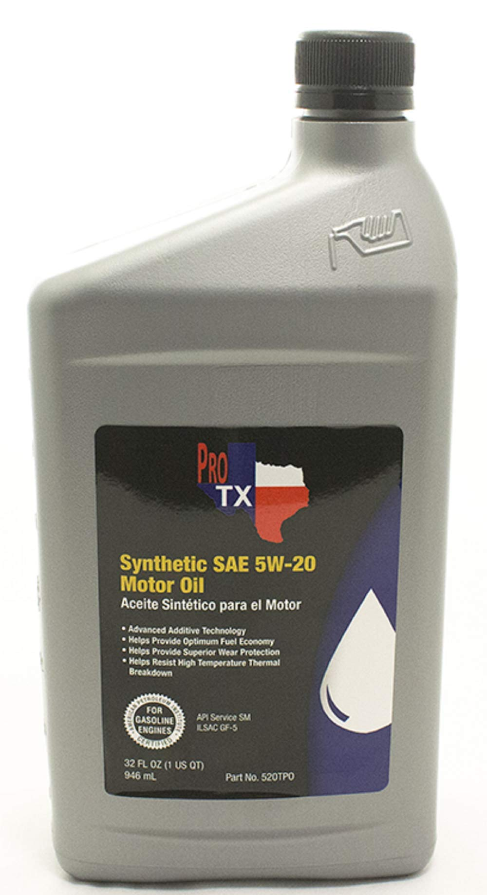 Texas Performance Oil Advance Additive Technology SAE 5W-20 Full Synthetic Motor Oil 32 Fl OZ.(1 US QT)