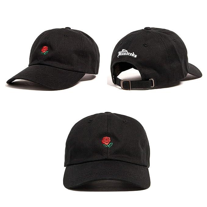 65425888e Amazon.com: Classic Baseball Cap Rose Snapback Hat for Women Caps ...