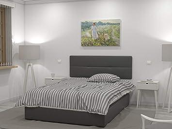 LA WEB DEL COLCHON Cabecero de Cama tapizado Acolchado Julie 145 x 55 cms. para Camas ...