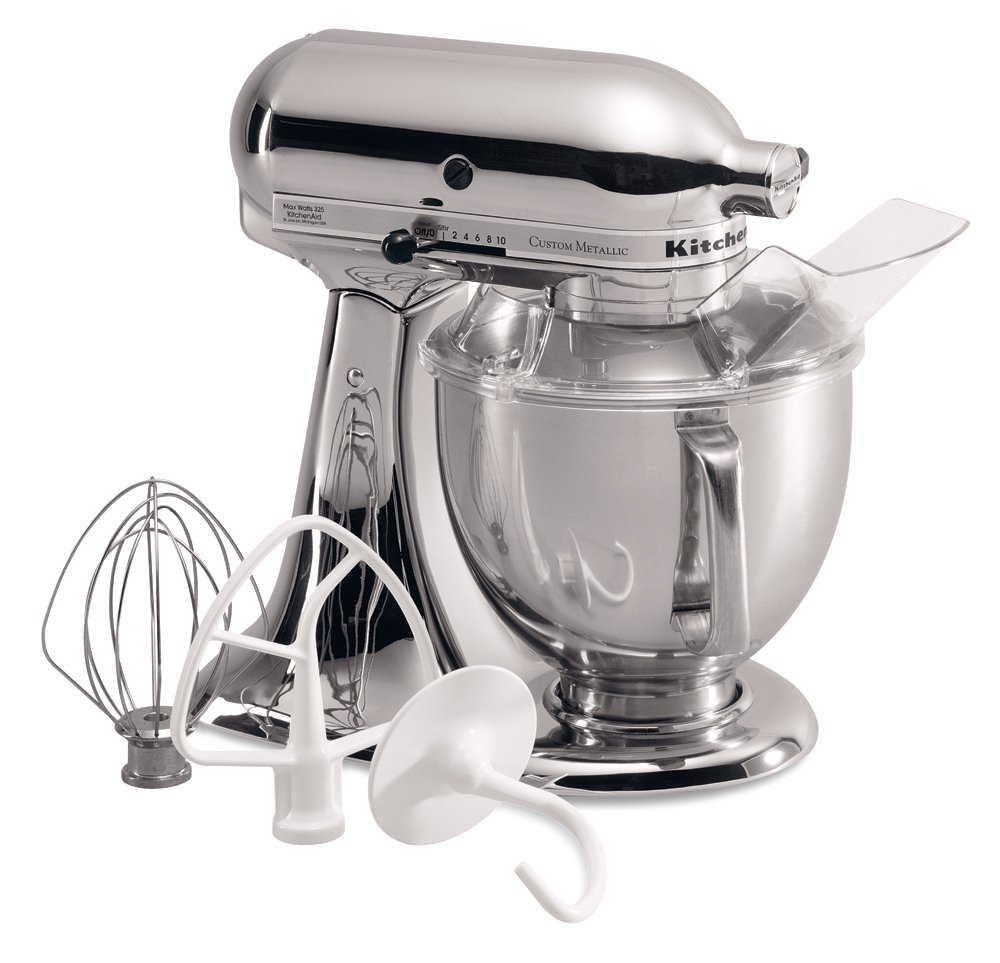 Amazon.com: KitchenAid KSM152PSCR 5 Qt. Custom Metallic Series With Pouring  Shield   Chrome: Electric Stand Mixers: Kitchen U0026 Dining