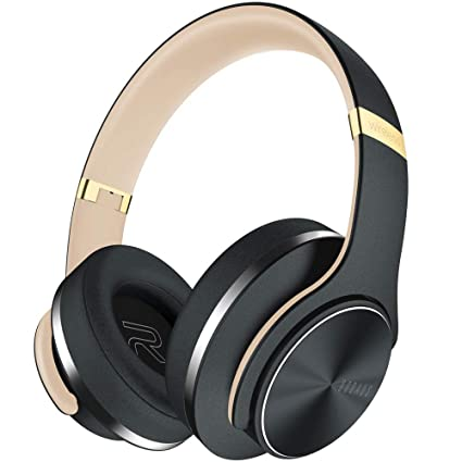 Bluetooth Headphones Over Ear 35 Hrs Playtime Doqaus Wireless Headset Hi Fi Stereo Comfortable Foldable With Mic Wired Eq Mode For Cell Phones