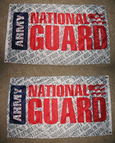 3X5 Army National Guard 2 Faced 2-Ply Wind Resistant Flag 3X5Ft (Guard Border National)
