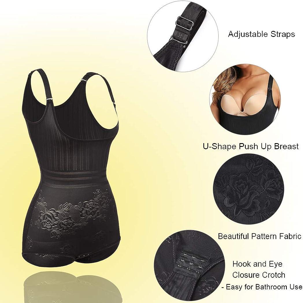 Joyshaper Tummy Control Shapewear Bodysuit for Women Full Body Shaper Open Bust Shapewear Slimming Shaping Underwear Waist Trainer Slimmer