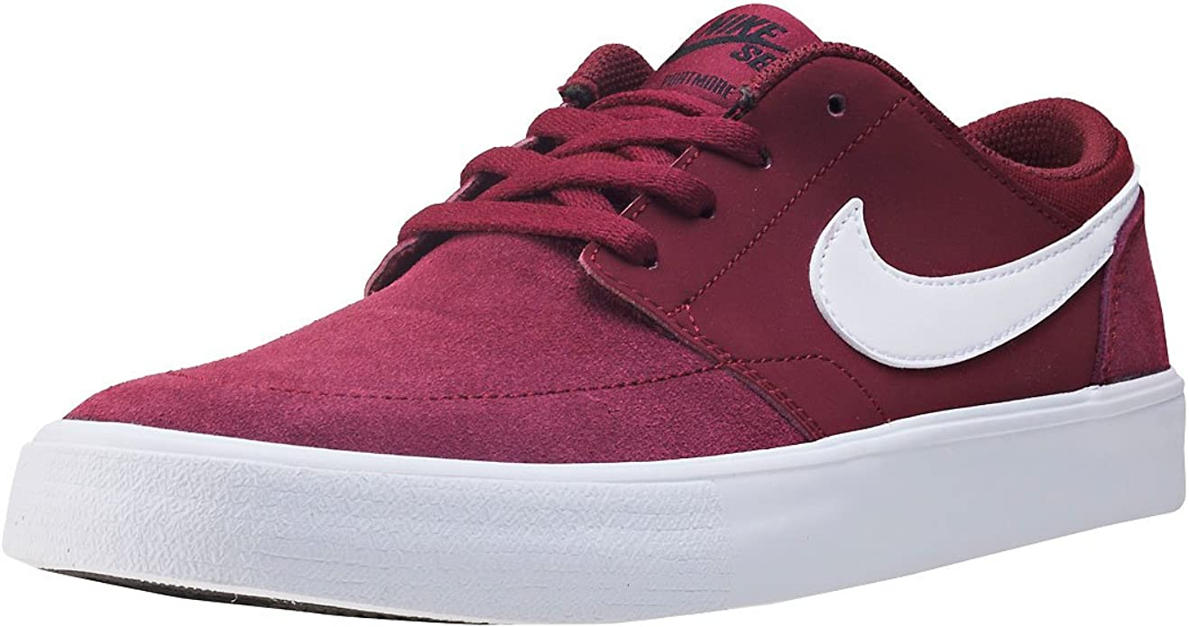 De todos modos Accidentalmente Contrapartida  Amazon.com | NIKE Kids SB Portmore II (GS) Dark Team Red/White Black Skate  Shoe 6.5 Kids US | Sneakers