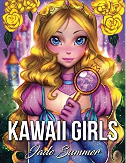 Kawaii Girls An Adult Coloring Book With Adorable Manga And Cute Fantasy Scenes