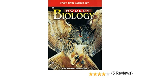 Modern Biology: Study Guide Answer Key: Winston Holt Rinehart ...