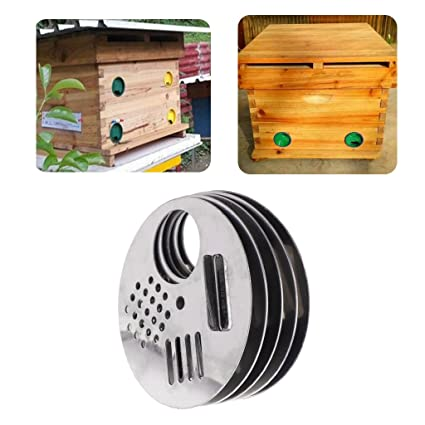 Beekeeping Supplies High Quality 5pcs Bee Box Door Cage Stainless Steel Round Hive Hole Beekeeping Nest Equipment