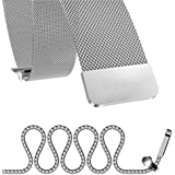 For Apple Watch 42mm - Magnetic Milanese Loop Stainless Steel Band For Apple iWatch 42mm - Silver