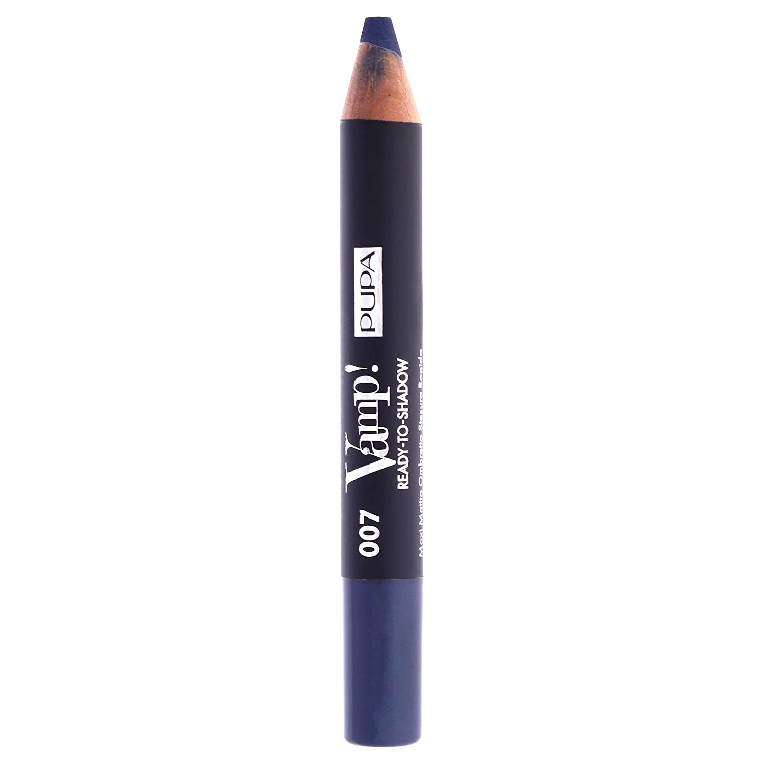 Pupa Milano Vamp! Ready To Shadow – Eyeshadow Maxi Pencil – Quick Application – Instant Blendability – Velvety Texture with a Powder Feel – 007 Smoky Blue – 0.04 Oz