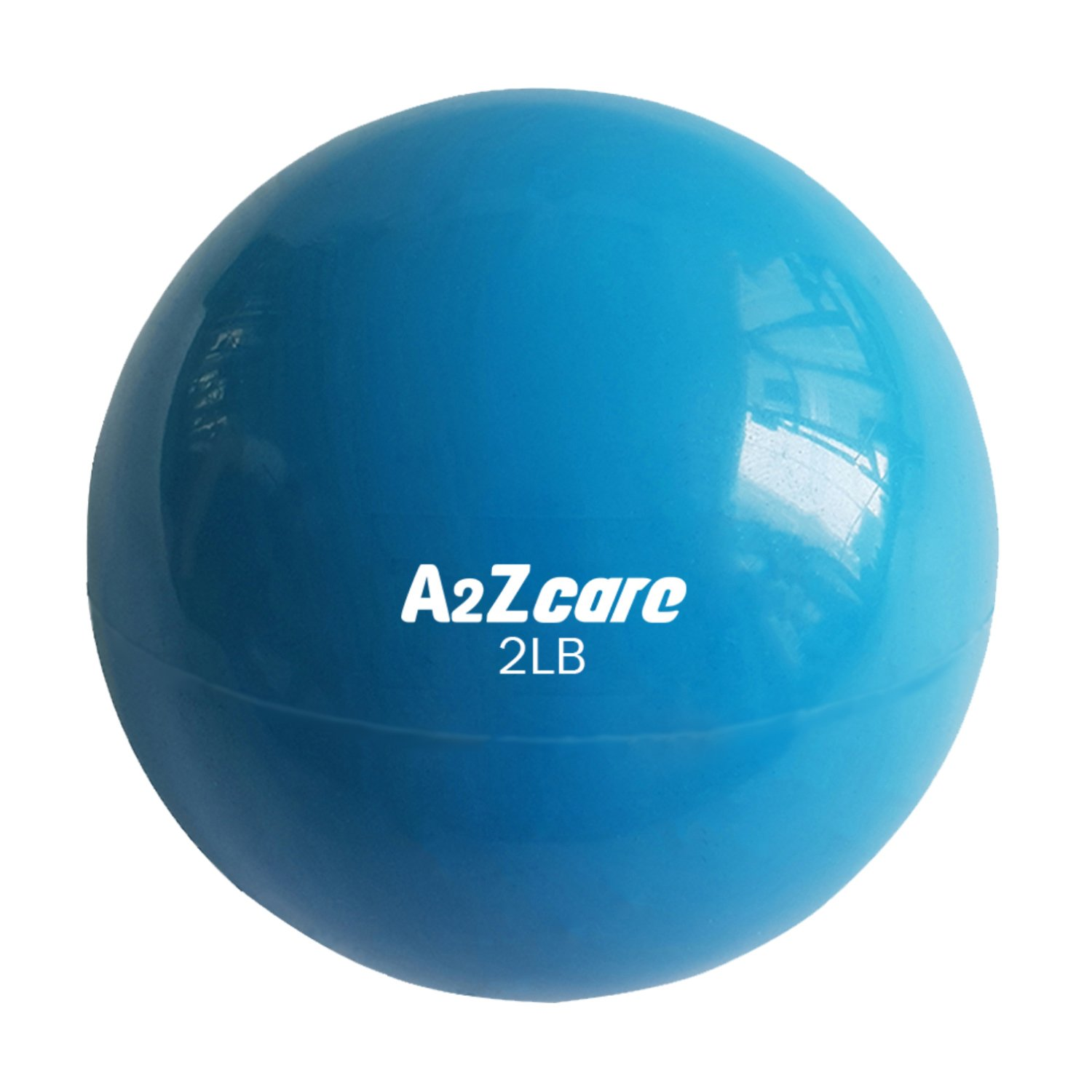 A2ZCARE Toning Ball - Soft Weighted Mini Ball/Medicine Ball (Blue (2lbs))