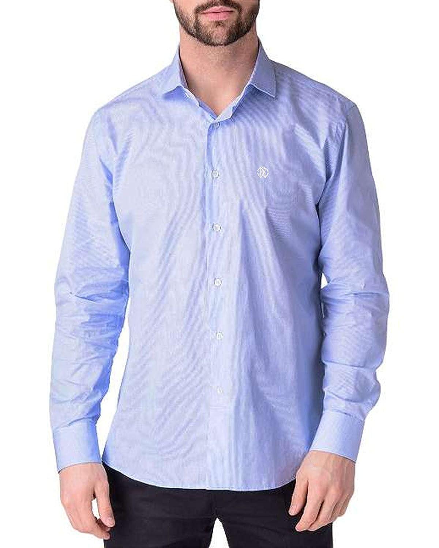 TALLA 42. Roberto Cavalli - Camisa de Cuadritos Slim Fit para Hombre FSR705