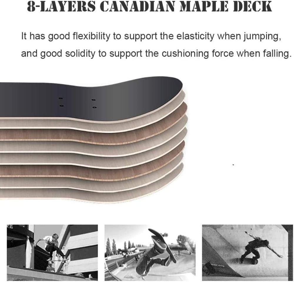 HUADUO Planche /à roulettes compl/ète pour d/ébutants Adolescents Enfants Gar/çons Filles-31x8  Skate Board avec Maple Cruiser Pro Skateboards Longboards , Penny Skateboard.