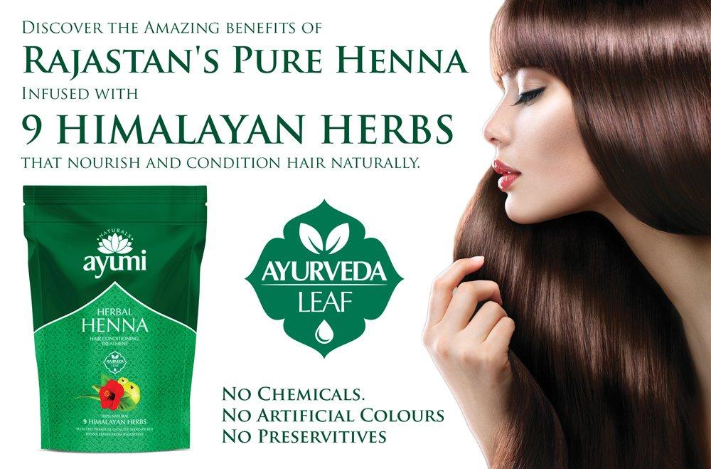 Ayumi Herbal Henna 9 Himalayan Herbs 500g Amazon Co Uk Beauty