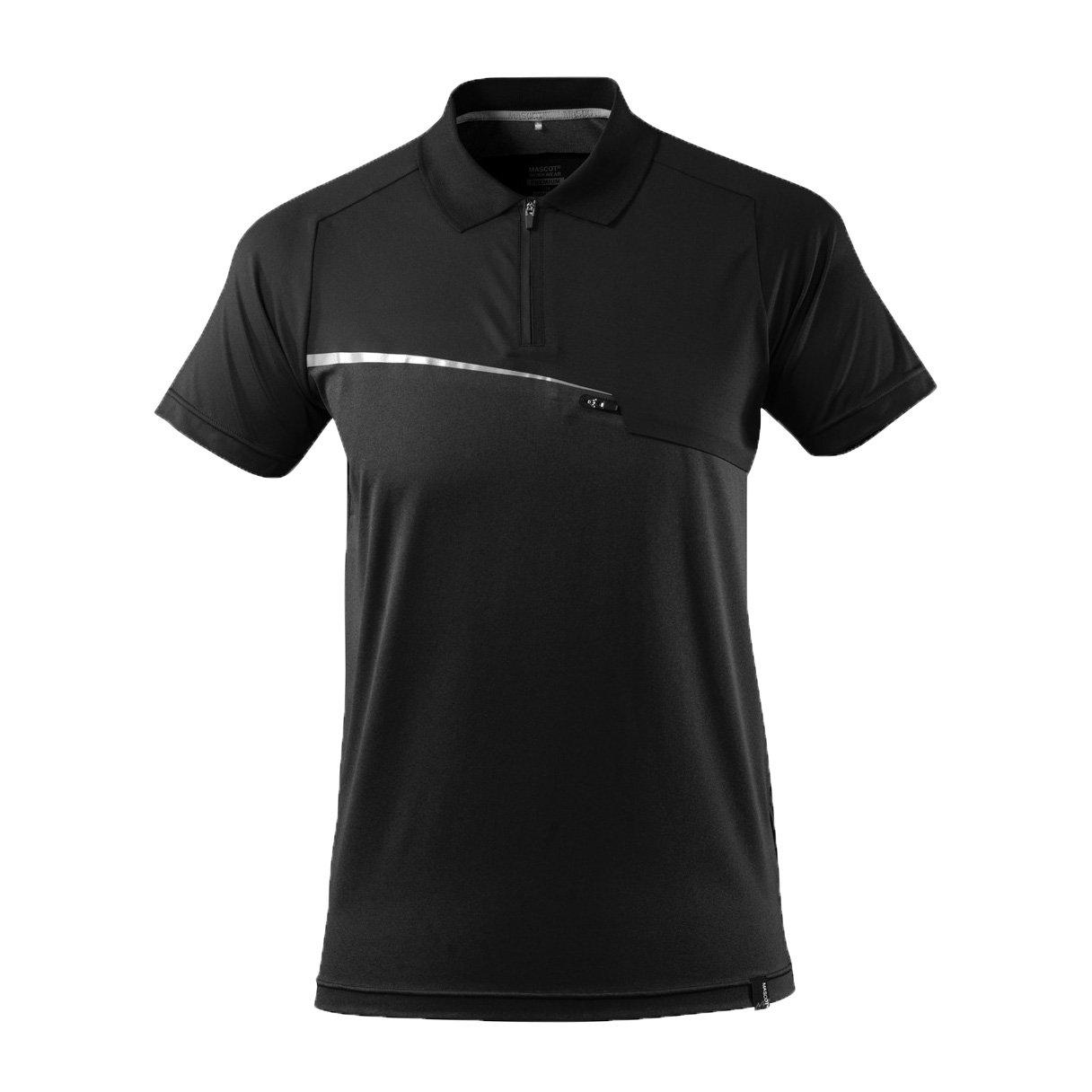 Mascot 17283-945-09-S Polo-Shirt/Advanced Size S Black
