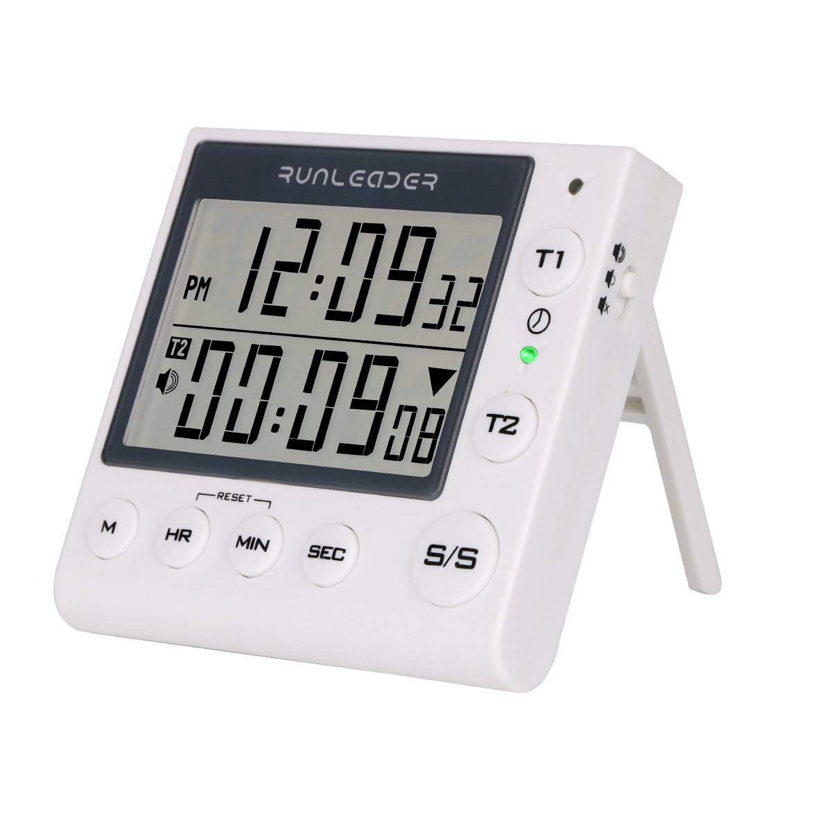 Dual Digital Count Up Down Timer - AIMILAR 2-Channel Countdown Kitchen Timer Clock for Cooking Lab Homework Exercise Gym Sports Games Classroom