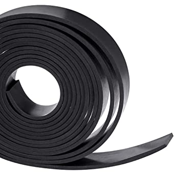 Amazon Com Solid Neoprene Rubber Strips Roll 1 8 125 Inch Thick X 1 Inch Wide X 10 Feet For Diy Weather Stripping Gasket Seal Home Improvement